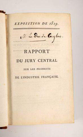 1819 - COSTAZ, L. Rapport du Jury central sur les produits de l'Industrie Française...