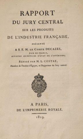 1819 - COSTAZ, L. Rapport du Jury central...