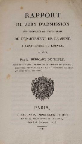 1823 - HERICART DE THURY, L. Rapport … des...