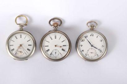 Deux montres à ancre en argent signées de...