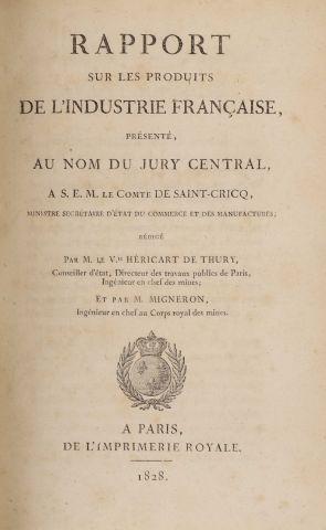 1828 - HERICART DE THURY, L. Rapport sur...