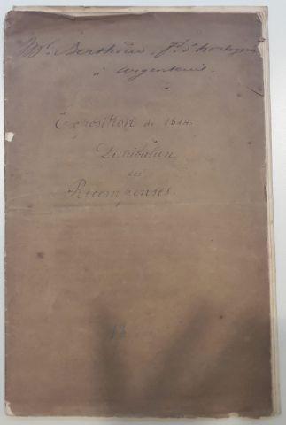 1839 Rapport du Jury Central, tome second, 1839. Broché, pp 17-31 ; 208-10 ; 223-36...