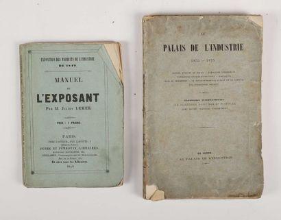 1849 - LEMER, Julien. Exposition des produits de l'industrie de 1849. Manuel de...