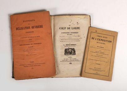 1855 - BORSENDORFF, L. Un coup de loupe à l'Exposition Universelle de 1855 … 1855....