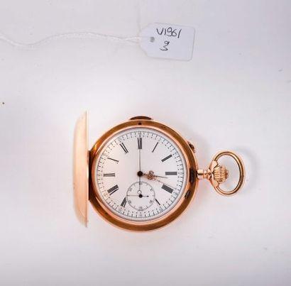 Montre savonnette en or (Pb. 147.60 gr),...
