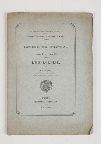 1878 - CORNU, A. Rapport Groupe II, classe 15, Les instruments de précision, 1880...