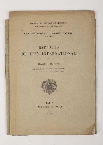 1900 BORREL, Georges. Rapports de jury international,...