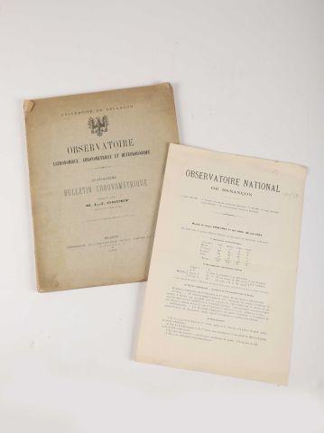 GRUEY, L.-J. Observatoire de Besançon … Bulletin Chronométrique 10 (1898) à 14 (1902)...