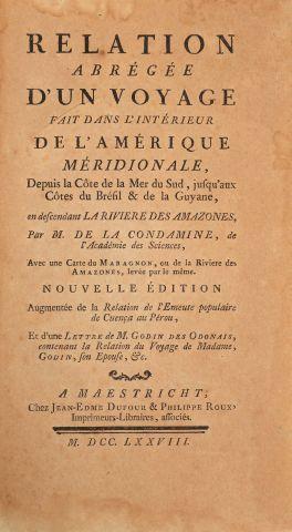 LA CONDAMINE (Charles-Marie de). Relation...