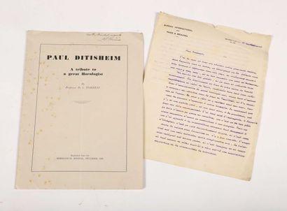 TORRENS, D.S. 'Paul Ditisheim, a tribute...