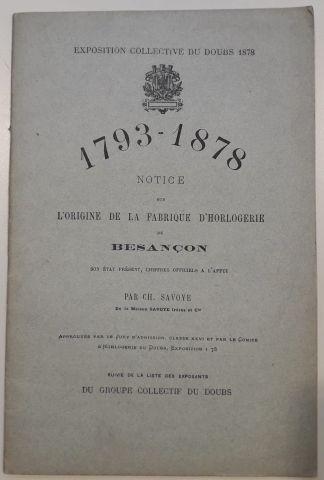CARON, A. Notice sur l'horlogerie française...