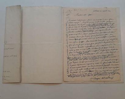 ALLEXANDRE, Jacques ( ?1653-1734). Lettre...