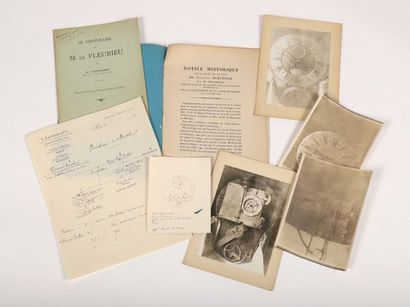 BERTHOUD, Ferdinand dossier contenant DELAMBRE. Notice Historique sur la vie et...
