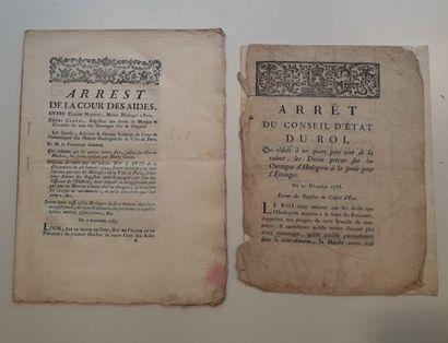 DOCUMENTS OFFICIELS 1785 Arrêt de la Cour...