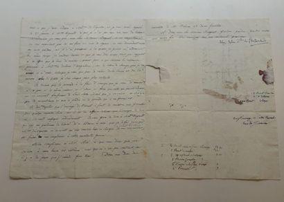 Lettre autographe de la Duchesse de l'Infantado...