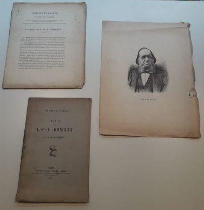 Portrait lithographié de Louis Breguet par...
