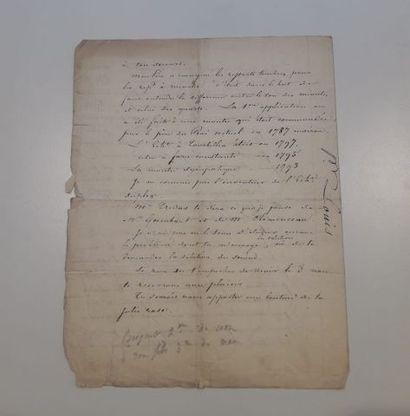 Lettre d'Antoine Breguet à Louis Breguet,...