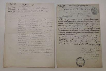 Quatre documents manuscrits concernant Louis...