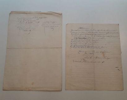 MOREAU, Jean Louis Etienne. Documents concernant...