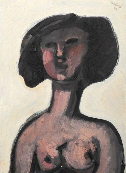 Jean ARENE (1929-)  Portrait de femme en...
