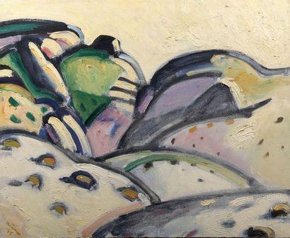 Jean ARENE (1929-)  Paysage valloné  Titré...