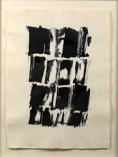 ECOLE MODERNE,  «Composition en noir et...