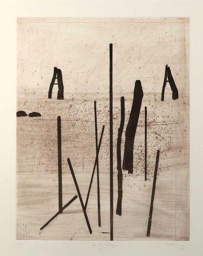 Jean-Pierre TANGUY (?),  «Sur la lagune...