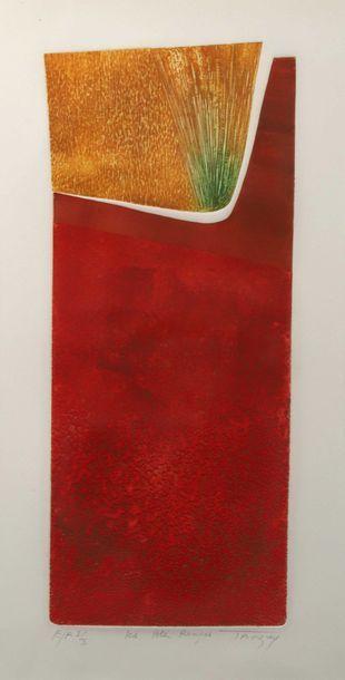 TAUZIER?,  «Les blés rouges»,  Epreuve...