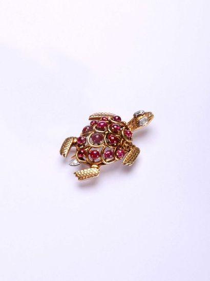 Cartier Paris. Broche figurant une tortue...