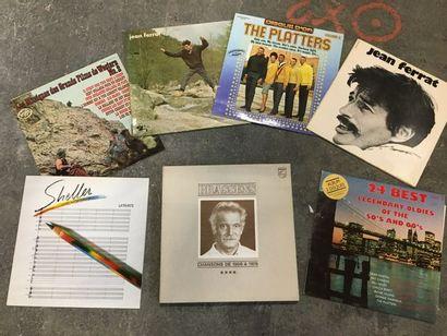 Ensemble de plus de 50 disques vinyles, parmi...