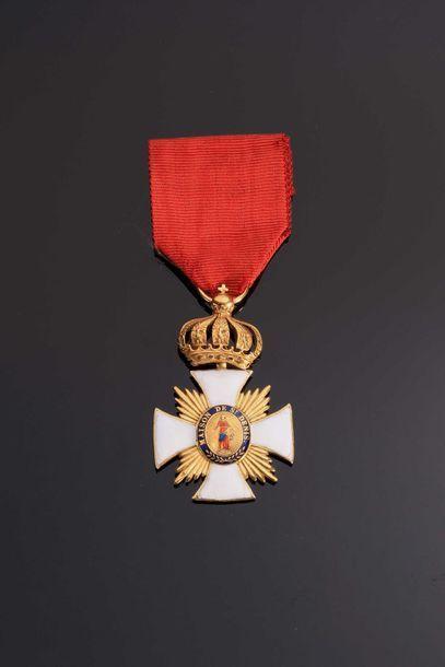 .-IDEM- Médaille d'honneur ovale en vermeil...
