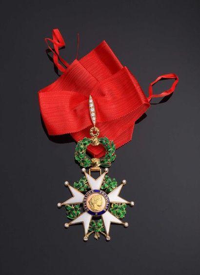 IV REPUBLIQUE. Etoile de Commandeur en or...