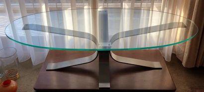 Table basse à piètement constitué de 4 lames...