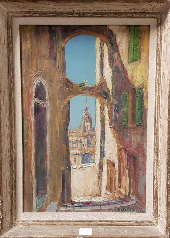 Louis-Rodolphe DEFONTAINE (1878-1962)  Clocher...