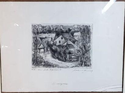 Jean BRENNER (1937-2009)  L'entrée du village...