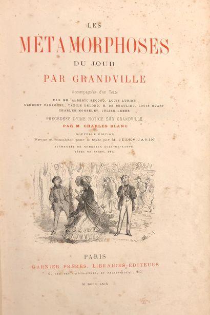 GRANDVILLE Jean-Jacques  Les Métamorphoses...