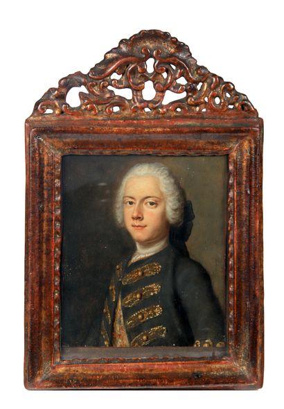 Ecole française, vers 1760  Portrait d'homme...