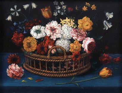 Bouquets de fleurs des champs dans des paniers....