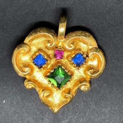Christian LACROIX, pendentif formant coeur...