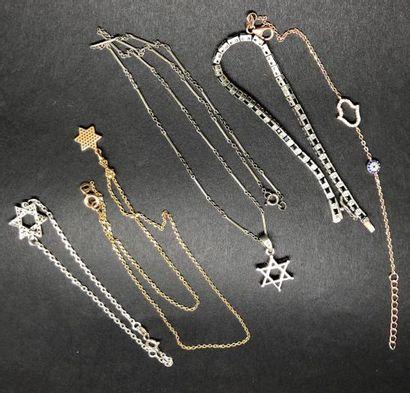 Lot de bijoux FANTAISIE et ARGENT comprenant...