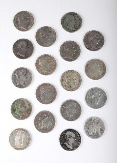 FRANCE, Ecus de 5 francs. Lot de 17 écus...