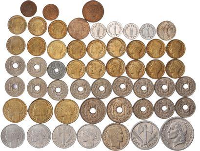Lot : Environ 83 monnaies françaises modernes....