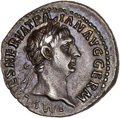 Rome ,Trajan (98-117): Denier. R/ La victoire...
