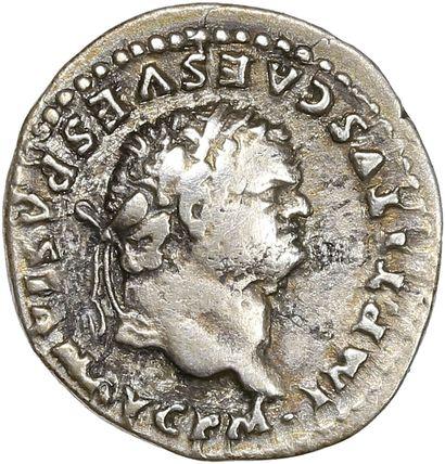 Rome ,Titus (79-81) - Denier   R/ l'éléphant...