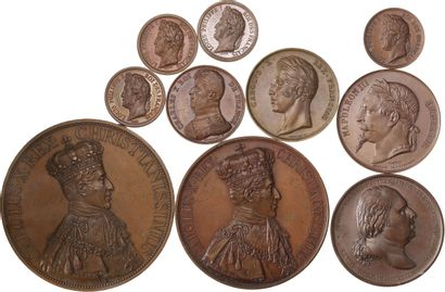 Médaille: Lot de 10 médailles de Louis XVIII...