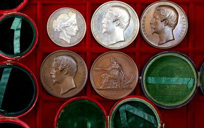Médaille : Lot de 5 médailles de concours...