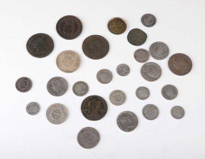 FRANCE. Lot de 25 monnaies divisionnaires...