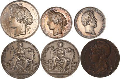 Médaille: lot de 6 médailles dont 5 en argent...