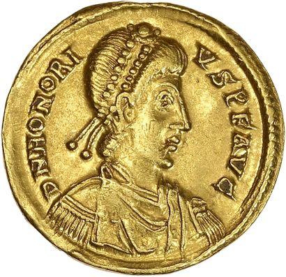 Rome, Honorius (393-424) : solidus frappé...