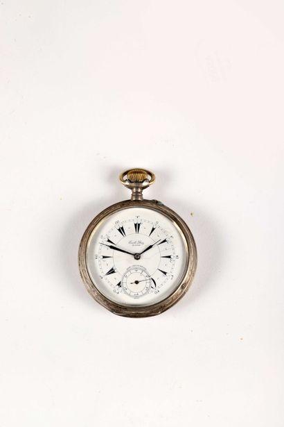 Régulateur en argent, 'demi chronomètre'...